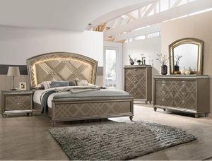 "Bedroom set Queen bed +Nightstand +Dresser +Mirror ""Mattress &Chest not included "" for Sale in Tustin, CA"
