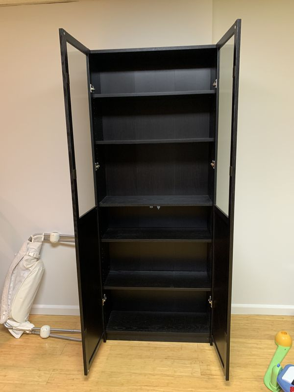 IKEA Billy bookcase (black-brown)