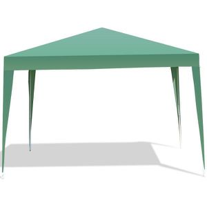 118 in. x 118 in. Green Pop-up Canopy Tent Wedding Party Shelter with Carry Bag for Sale in El Monte, CA
