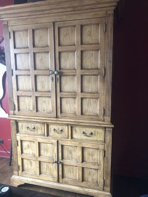 Large wardrobe entertainment cabinet excellent condition! for Sale in Barrington, IL