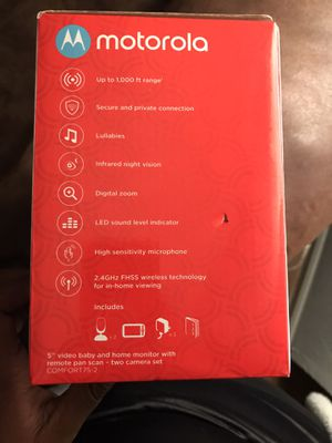 Brand new still in the box Motorola double camera monitor for Sale in Baton Rouge, LA