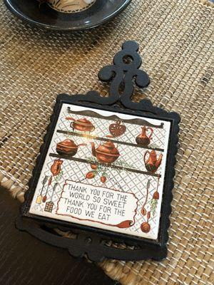 Tile & cast iron trivet. for Sale in Oak Lawn, IL