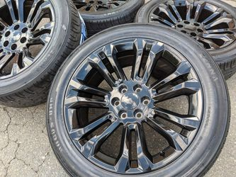 "22"" GMC Sierra 1500 Yukon Denali Wheels Tires P285 45R22 Rims 285 45 for Sale in Charlotte,  NC"