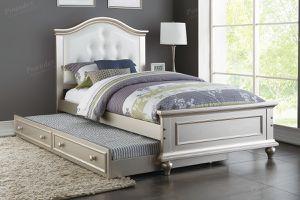 Brand new silver or pink twin twin trundle bed frame for Sale in San Diego, CA