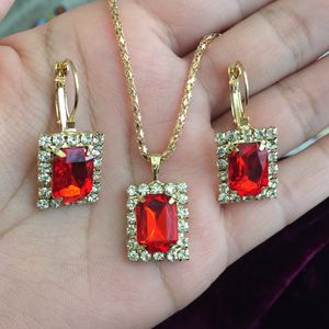 Gold plated jewelry earrings necklace set with adjustable ring for Sale in Silver Spring, MD