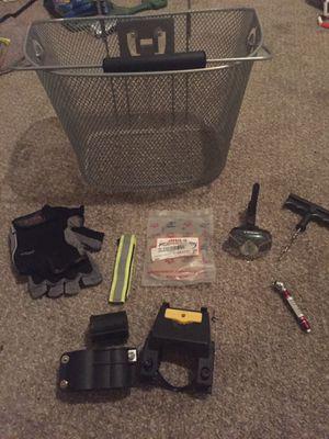Bike accessories including Trek light set Trek gloves and lotus basket and hardware for Sale in Philadelphia, PA