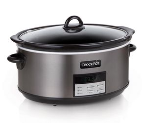 Crock-Pot 8 qt. Programmable Slow Cooker in Black Stainless for Sale in Gainesville, FL