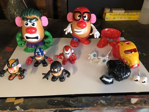Mr potato head marvel avengers hulk iron man spider man captain America for Sale in Pasadena, CA