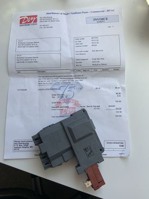 Door Lock Switch Frigidaire Kenmore Washer 131763256 {contact info removed} 131763255 for Sale in Denver, CO