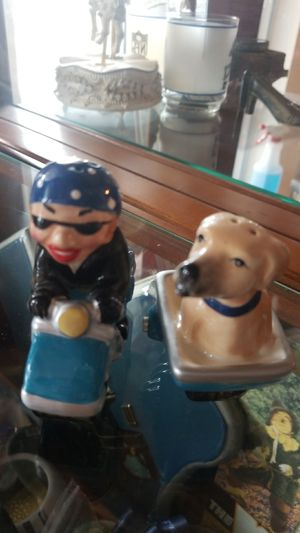 Used, Collectible Biker and Dog salt and pepper shakers for Sale for sale  San Antonio, TX