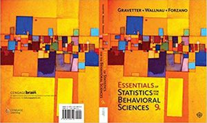 Essentials of Statistics for The Behavioral Sciences 9th Edition ebook PDF for Sale in Los Angeles, CA