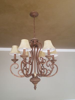 "Beautiful 6 light chandelier. Measures about 48"" tall with full chain and 32"" tall without chain for Sale in Murfreesboro, TN"
