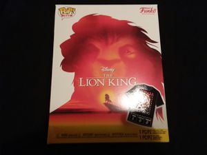 Large Lion King Mufasa pop tee from funko NO FIGURE for Sale in Highland, CA