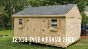 New 12' x 16' Pine A Frame Shed for Sale in Westford, MA