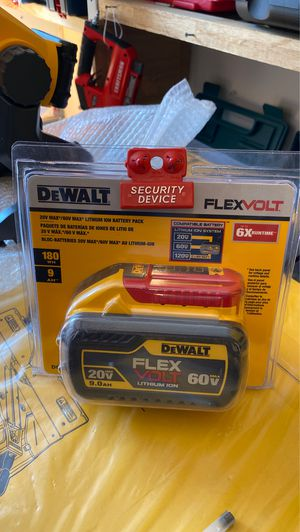 DEWALT FLEXVOLT 20-Volt /60-Volt MAX Lithium-Ion 9.0 Ah Battery Pack for Sale in Raleigh, NC