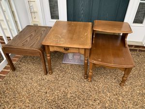 3 Tables For FREE ( Must be picked up before Monday 7/13 5 pm for Sale in Charlottesville, VA