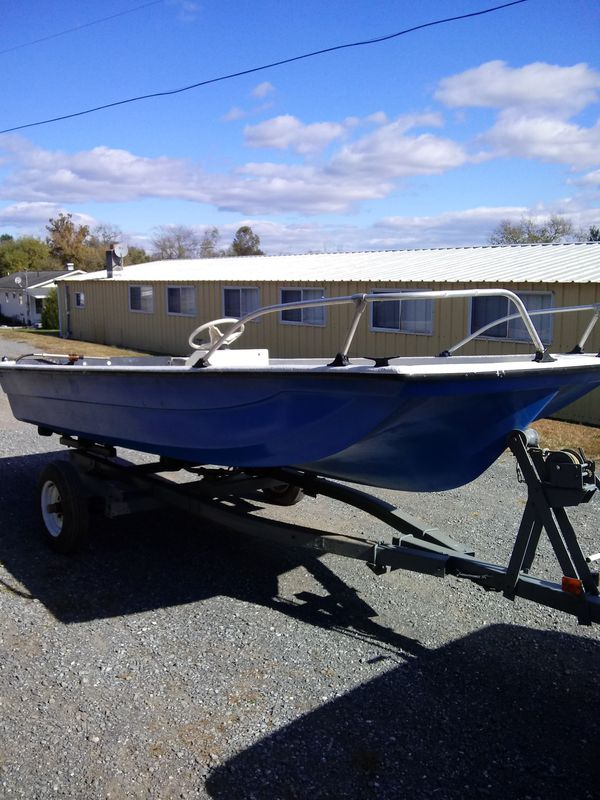14ft center console with galvanized roller trailer