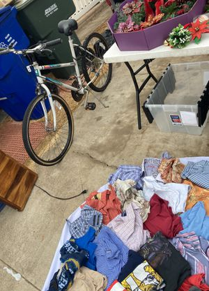 HUGE SALE - moving! Bike, couch, Xmas, clothes, dishes, blankets, &more for Sale in Chula Vista, CA