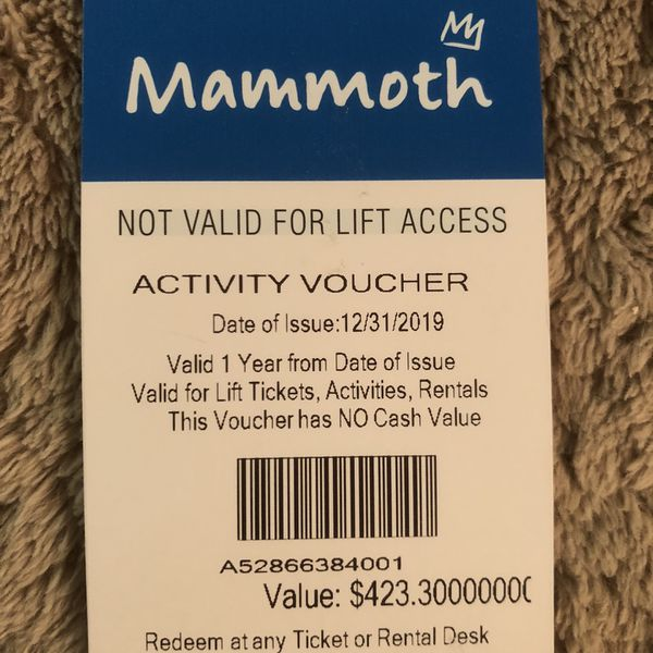 Mammoth Activity Voucher