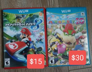Mario kart/ party wii u for Sale in Glendora, CA