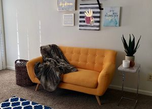Yellow Loveseat Sofa for Sale in Cary, NC