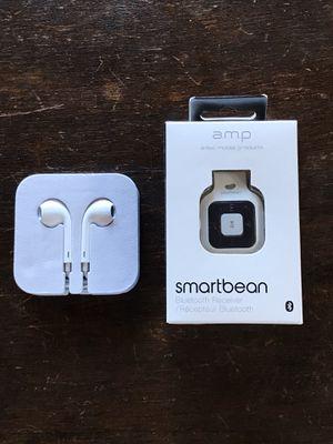 Apple EarPods + Bluetooth Receiver for Sale in Diablo, CA