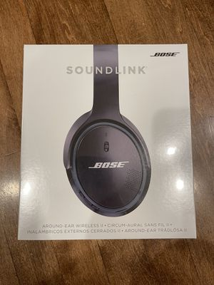 BRAND NEW Bose - SoundLink Wireless Around-Ear Headphones II - Black for Sale in Kirkland, WA