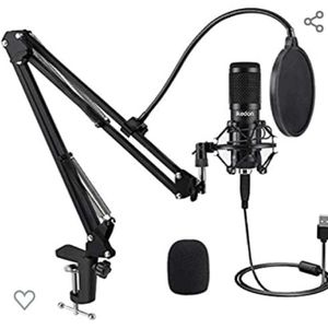 USB Condenser Microphone, IKEDON 192KHZ/24Bit Plug & Play PC Streaming Mic, USB Microphone Kit with Professional Sound Chipset Boom Arm Set, Studio Ca for Sale in Phoenix, AZ