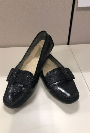 Black Leather UGG Loafers with buckle size 7 1/2 women for Sale in Winter Park, FL