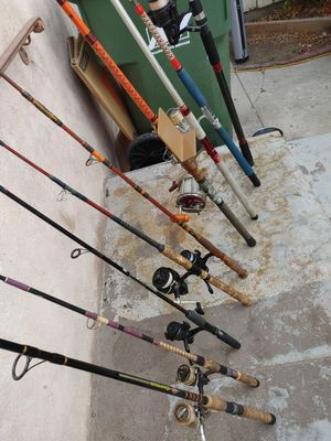 Fishing rods with reels in great condition. Different sizes..prices..brands.... for Sale in Alhambra, CA