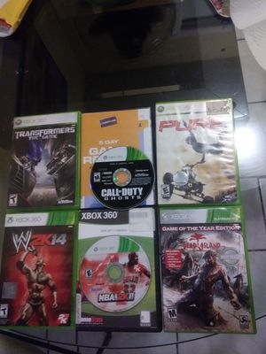 XBOX 360 GAMES IN BRAND NEW CONDITION NO SCRATCHES 6 GAMES IN TOTAL .(NO DELIVERIES MUST PICKUP). for Sale in Miami Gardens, FL