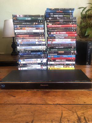 Panasonic Blu-ray Player & DVDS for Sale in Denver, CO