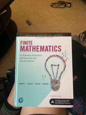 Finite Mathematics Textbook for Sale in Phoenix, AZ