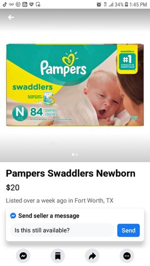 Newborn Pampers for Sale in Fort Worth, TX
