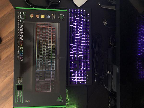Razer Blackwidow Chroma V2 Keyboard & Razer Deathadder Mouse