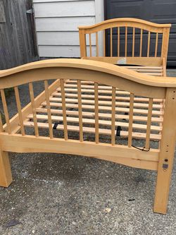 Wood Twin Bed Frame for Sale in Seattle,  WA