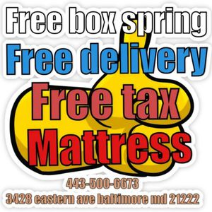 Free box spring and free delivery for Sale in Towson, MD