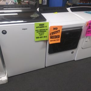 WHIRLPOOL WASHER DRYER SET🎈OPEN SUNDAY 9AM-6PM🎈💲100 OFF NOW💲🌟BUY NOW PAY LATER🌟❌NO CREDIT NEEDED❌ for Sale in Hesperia, CA