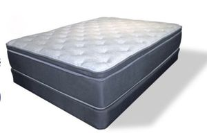 Euro Top Queen MATTRESS, FOUNDATION and BED FRAME for Sale in Spanish Fork, UT