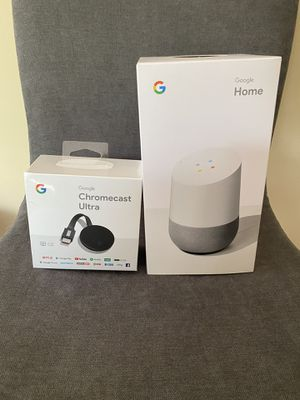 google home+ chromecast ultra for Sale in Queens, NY