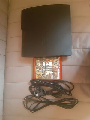 Ps3 contains all cables a game and a controller for Sale in Tustin, CA