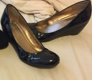 BCBG Black Patent Leather Wedges NWOT for Sale in Mansfield, TX