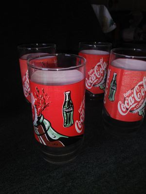 Coca-Cola Glasses Set of 6 for Sale in Industry, CA