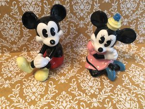 Vintage Disney Mickey and Minnie figurines for Sale in Irvine, CA