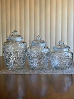 Princess House Fantasia Canisters for Sale in Fontana, CA