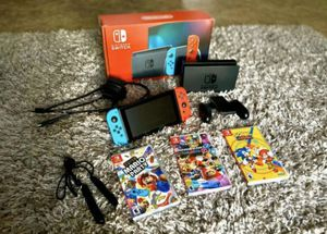 Nintendo switch bundle V2 for Sale in Queen City, TX