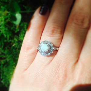 Vintage style Opal white gold ring for Sale in Anaheim, CA