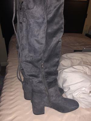 Knee high grey boots for Sale in Murfreesboro, TN