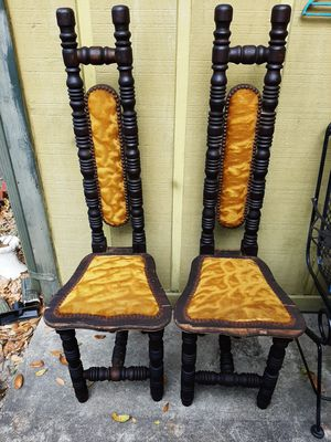 Antique Spanish hall praying chairs $125both for Sale in Pensacola, FL