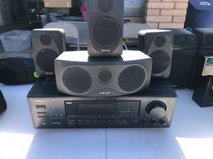 Onkyo receiver & polk audio speakers (4) for Sale in Chandler, AZ